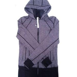lululemon Heather Grey Black Hoodie x1 8 Medium